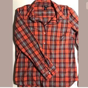 Gap women's flannel shirt small boyfriend fit